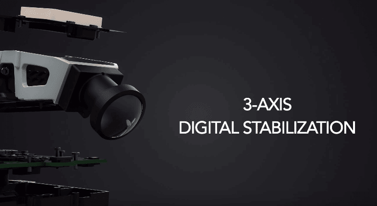 Gimbal de direction camera a 3 axes