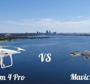 comparaison entre le mavic pro et le phantom 4 pro