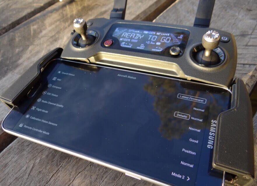 la radiocommande du mavic