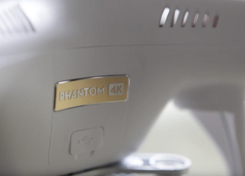 le design du phantom 3 4K