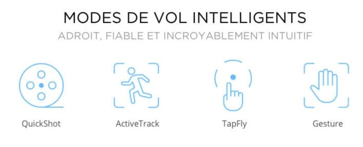 modes de vol intellligent DJI Spark