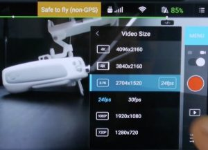 resolutions video disponibles phantom 3 4K