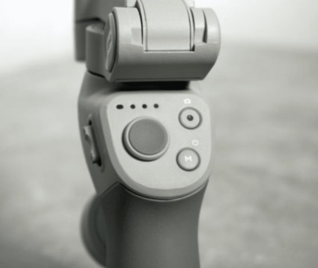 Options et boutons disponibles sur la manche