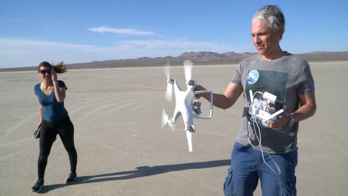 hélices de drone par temps venteux